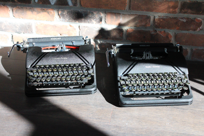 A pair of Smith-Corona typewriters from Toronto Typewriters.