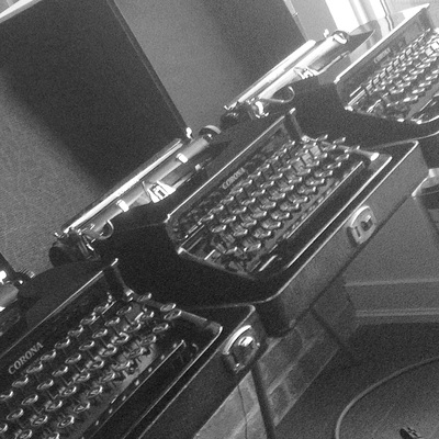 A collection of Corona typewriters from Toronto Typewriters.